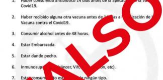 SSa alerta por lista falsa de indicaciones para aplicación de vacuna covid